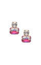 Twin Gem Earring in Ombre Pink by LAST TRUE ANGEL