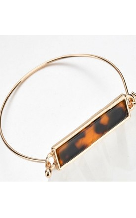 Gold & Tortoiseshell Bangle by GIGILAND