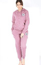 Paris All Star Loungewear Tracksuit In Baby Pink by Oops Fashion