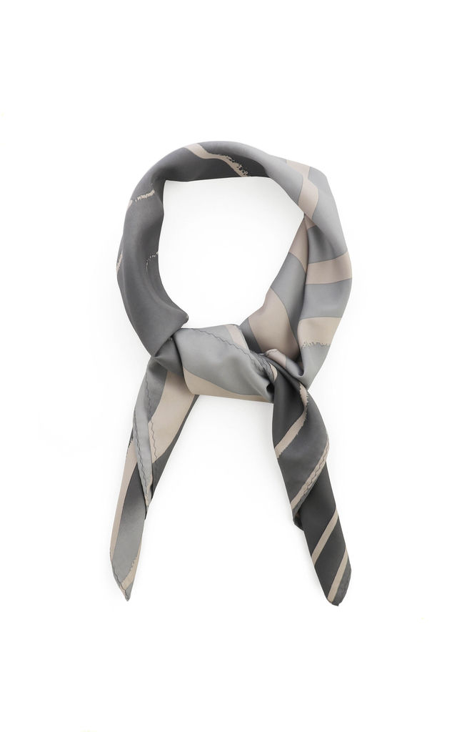 Grey and Stone Animal Print Scarf by Tutti & Co