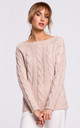 Cozy and Comfy Bateau Neck Pullover in Powder by MOE