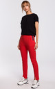 Cozy and Comfy Split Leg Joggers in Red by MOE