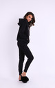 Cozy and Comfy Joggers with Drawstring in Black by By Ooh La La