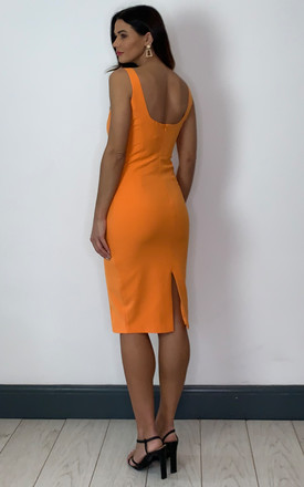 CHIARA SHIFT DRESS IN ORANGE by Bardot