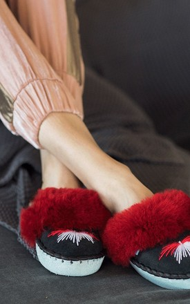 The Ruby Sheepskin Mule Slippers by Sheepers