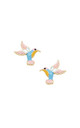 Hummingbird Earrings in Turquoise and Pink by LAST TRUE ANGEL