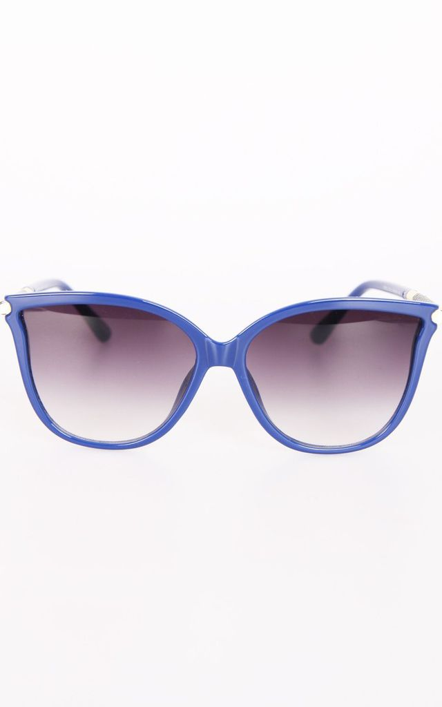 RETRO CAT EYE SUNGLASSES IN BLUE by LOES House
