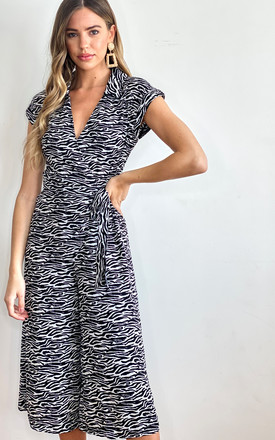 Jodie Zebra Jumpsuit by Bright & Beautiful