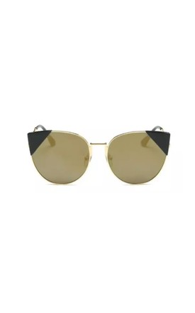 Stephanie Cat Eye Mirror Gold Sunglasses by Don't Be Shady