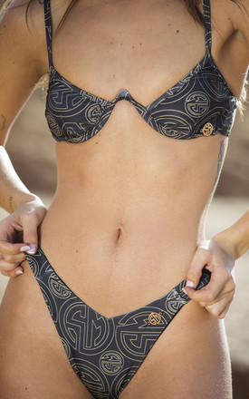 Bikini 'Lani' with Underwire Top in Logo Print by Storm Label