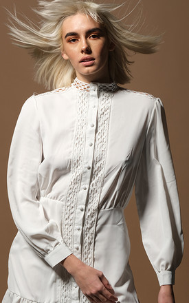 AVELINE white shirt dress by AMO