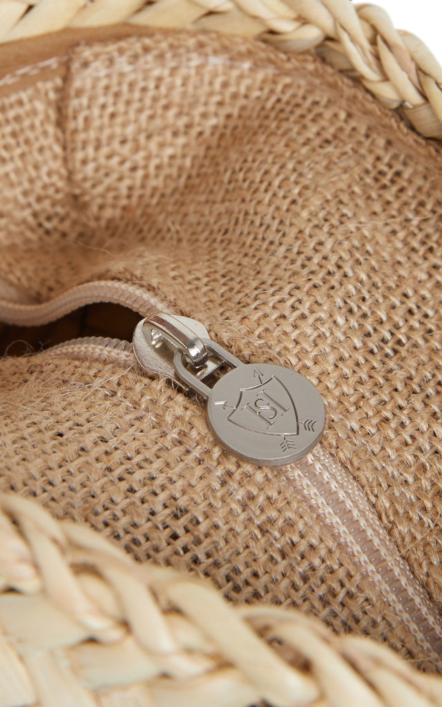 'The Wessex' Walnut Woven Leather Basket Bag by Henrietta Spencer
