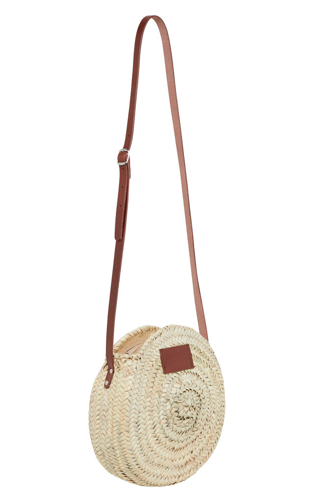 'The Framlingham' Walnut Small Round Basket Bag by Henrietta Spencer