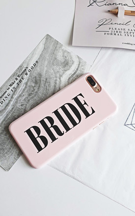 Bride dusty pink wedding phone case by Rianna Phillips