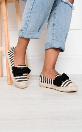 Izzie Bow Espadrilles in Black by IKRUSH