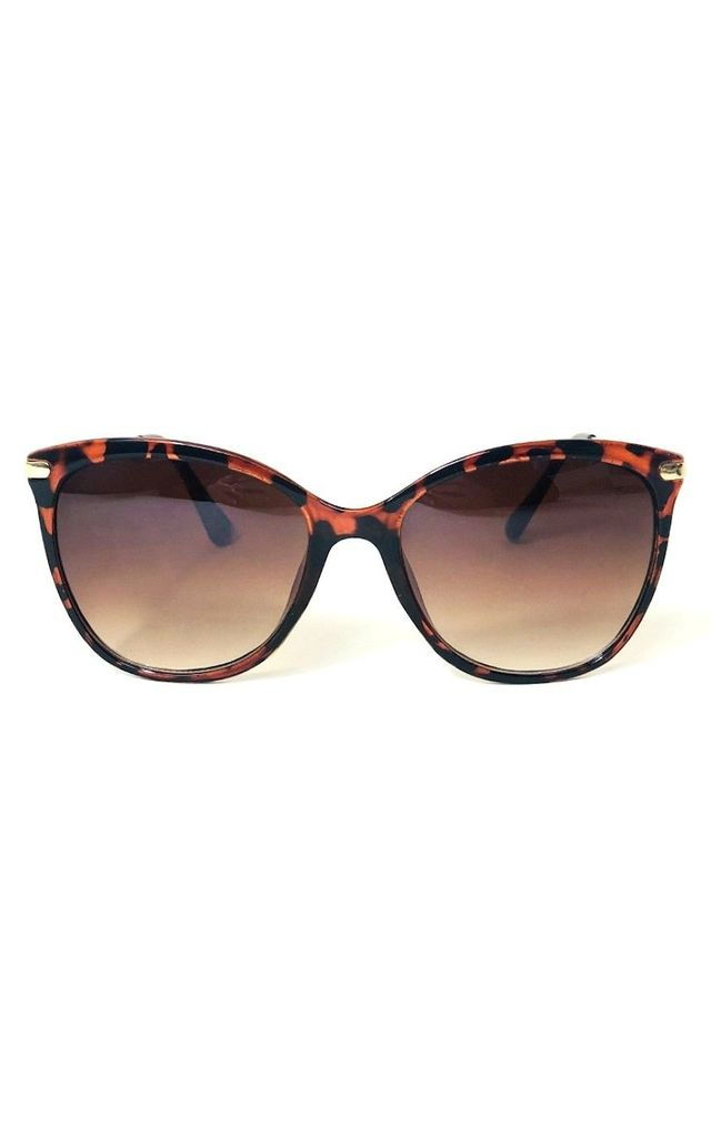CONRAD Leopard Print Sunglasses with Gold Frame by ShaniceEmily