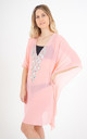 Pink Mesh Kaftan with Teardrop Crystal Detailing by Trillion London