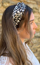 Hair Band in Leopard Print by White Leaf