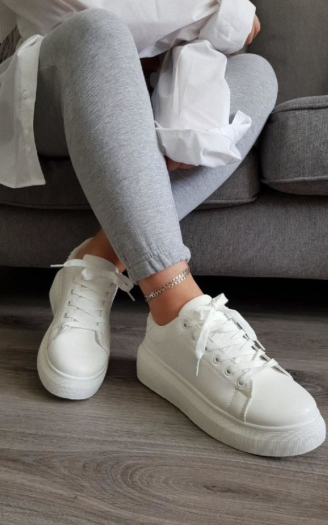 Ciara Chunky Trainers in White by IKRUSH