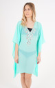 Mint Mesh Kaftan with Teardrop Crystal Detailing by Trillion London