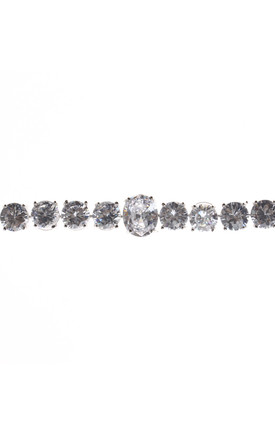 Multiples Round Shape Cubic Zirconia Bracelet in SIlver by LOES House