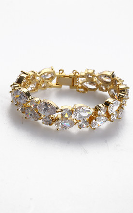 Mosaic Cubic Zirconia Bracelet in 18K Gold plated by LOES House