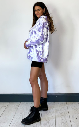 TIE DYE HOODIE IN LILAC by Off The Railz