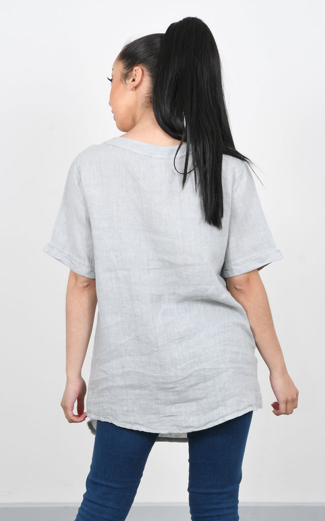 BASIC LINEN T-SHIRT (Grey) by Lucy Sparks