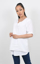 BASIC LINEN T-SHIRT (White) by Lucy Sparks