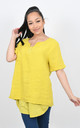 BASIC LINEN T-SHIRT (Yellow) by Lucy Sparks