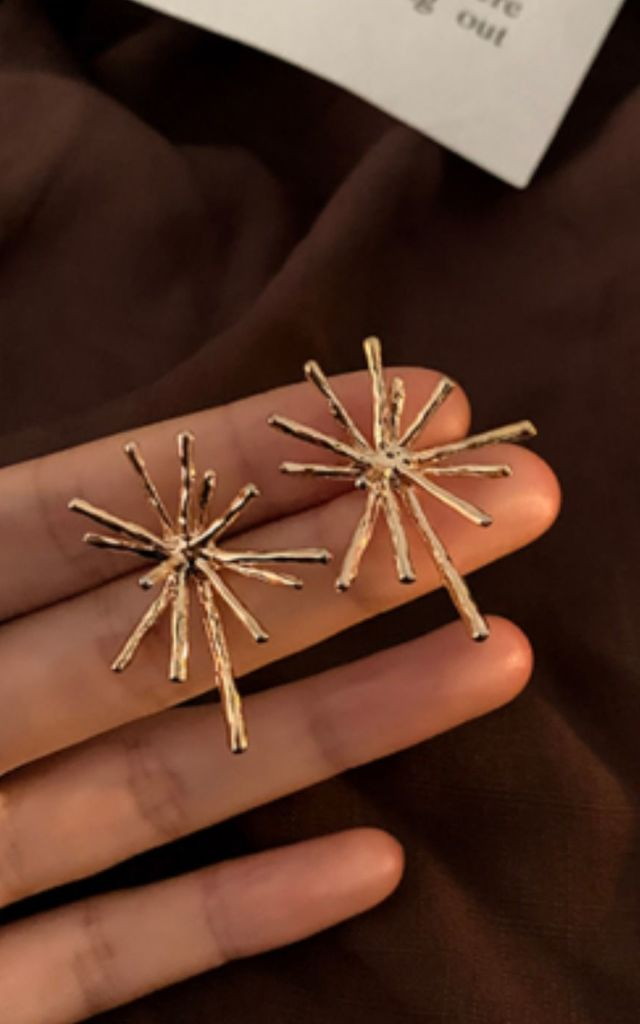 Asterix Gold Star Sterling Silver Plated Earrings by GIGILAND
