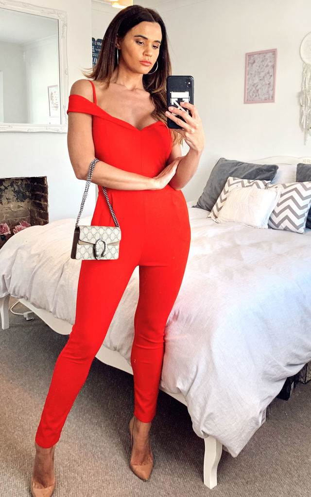 STRAPPY JUMPSUIT IN RED by The ModestMe Collection