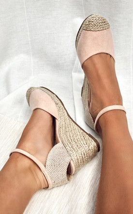 Nude Closed Toe Espadrille Wedges by Truffle Collection Product photo