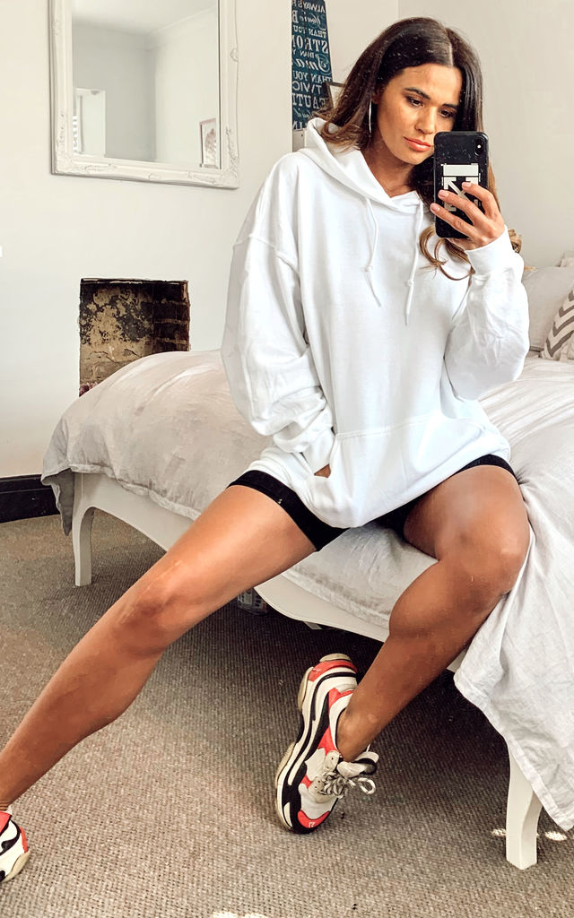 Ultimate oversized boyfriend hooded sweater white by Pharaoh London
