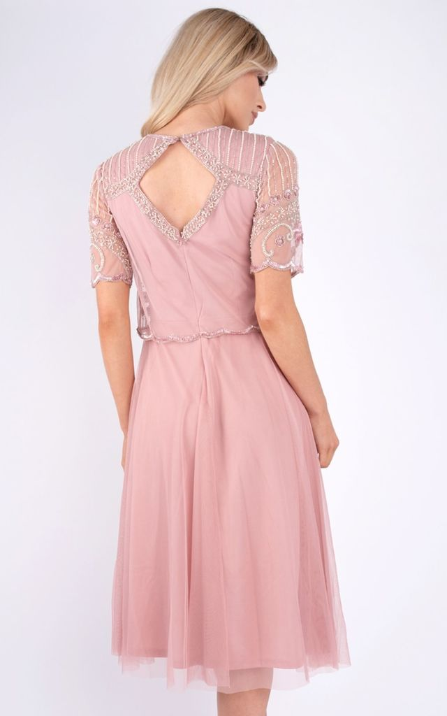 Bella Sequin Tulle Pink Dress by Baloot