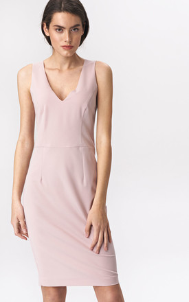 Pink mini wedding guest dress by so.Nife