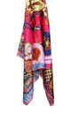 LARGE SQUARE SILKY MOSAIC JEWEL CHAIN PRINT SCARF in Rose Pink by LOES House