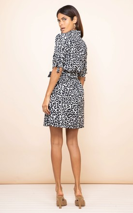 Jonah Mini Shirt Dress in Mono Leopard by Dancing Leopard
