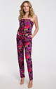 Jumpsuit on Straps in Violet Print by Dursi