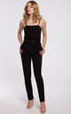 Black Off Shoulder Jumpsuit with Belt by Dursi