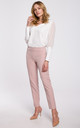 Classic Slim Leg Trousers in Pink by Dursi