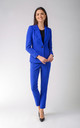 One Button Jacket in Blue by Bergamo