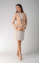 One Button Jacket in Beige by Bergamo
