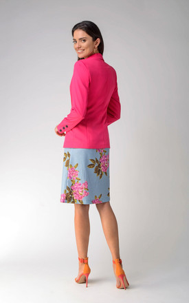 One Button Jacket in Pink by Bergamo