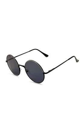 EAST VILLAGE 'JOURNEYMAN' SUNGLASSES METAL ROUND black & white with smoke lens by East Village