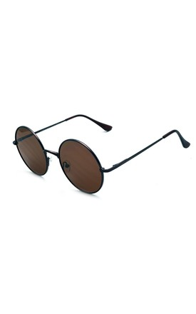 EAST VILLAGE 'JOURNEYMAN' SUNGLASSES METAL ROUND copper with brown lens by East Village
