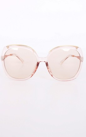 BEE OVERSIZED ROUND CAT EYE SUNGLASSES IN ROSE GOLD by LOES House