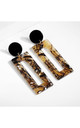 Tiger Print Geometric Earrings by Always Chic