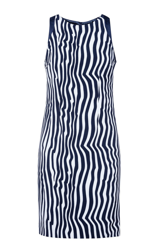Sleeveless Zebra Print Dress by Conquista Fashion