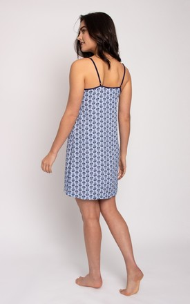 Pretty You London EcoVero Chemise in Blue by Pretty You London